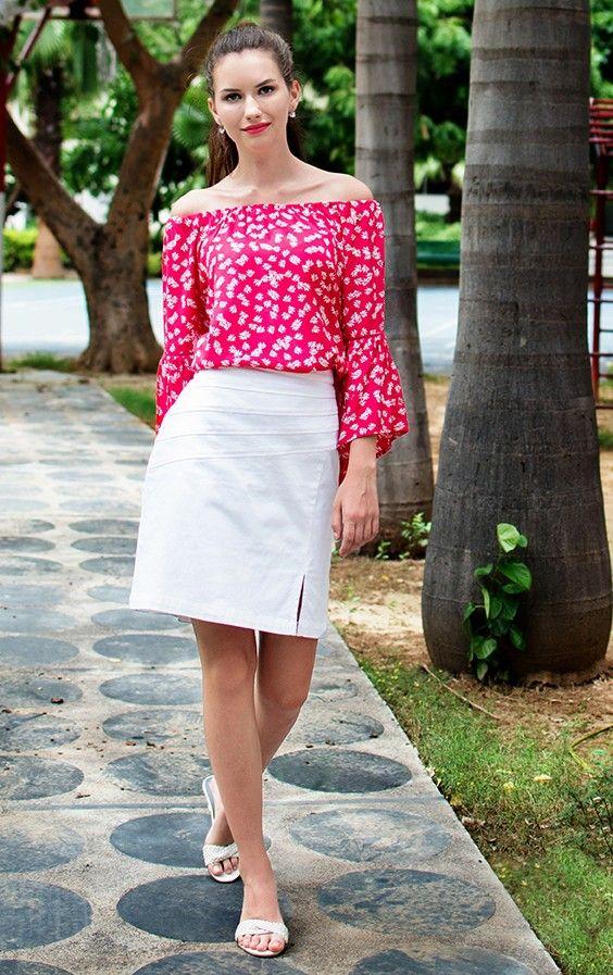 ZIRNA Cotton Skirt