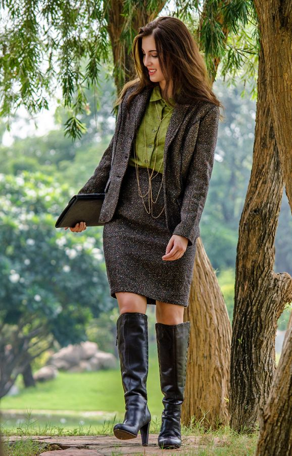 CAIREEN Tweed Skirt